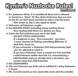 Nuzlocke Diamond: My Rules by ky-nim