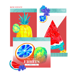 [Red Velvet] Red Flavor Fruits - PNG PACK by TsukinoFleur