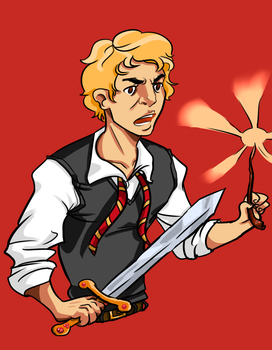 Enjolras the Gryffindor by camelonajourney