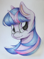 Twilight's small glasses (on paper) by IsaEliseDuk