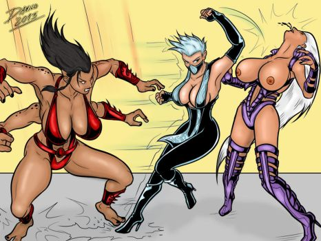 Frost vs Sindel y Sheeva by tgirl001