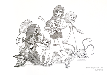 Commission: Nicole's Team by BluuKiss