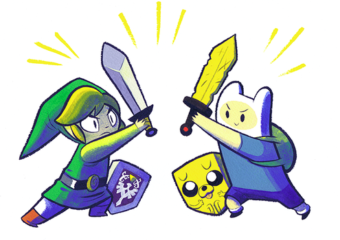 Finn And Link by Pocketowl