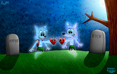 Collab: Ghost Fane and Ghost Rich Heartthrob by DragonRichard