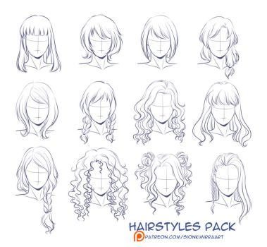 Hairstyles practice by Kimir-Ra