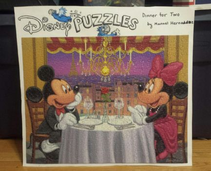Manuel Hernandez's Dinner For Two Puzzle by joshbluemacaw