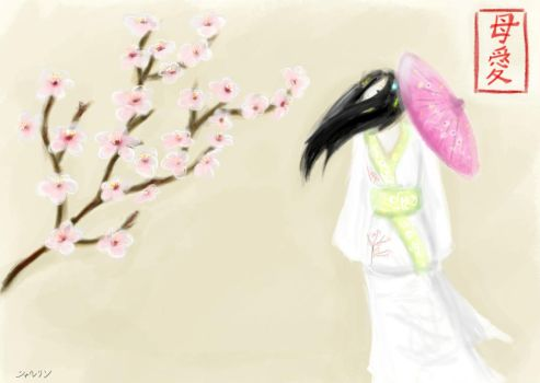 Cherry blossoms for Mom by Sharlyn-Kirar