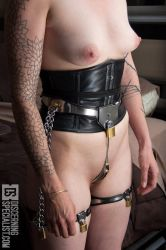 Fancy Steel Chastity Belt IMG 0225 by djmonkeyboy