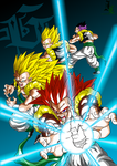 Teen Gotenks DBAF All Forms Colored by JamalC157