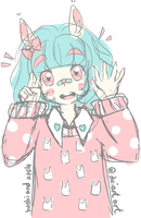 Pastel Usagi by MagicalHelen
