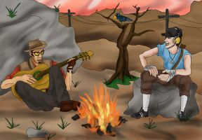 TF2 Campfire For Taco ^^ by djap-chan
