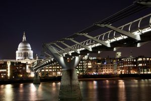 St Paul's  Millennium Bridge by Thameralhassan