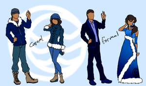 Modern Northern Water Tribe Style (For My Fanfic) by DropDeadThenDance