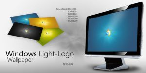 Windows Light-Logo Wallpaper by nyolc8