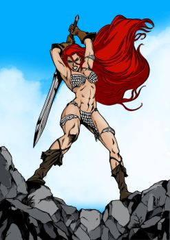 Colored Red Sonja by kwbunyap