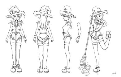 witch model sheet by BrianLukArt