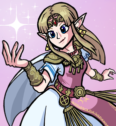 Smash Ultimate Zelda by CargTheDood