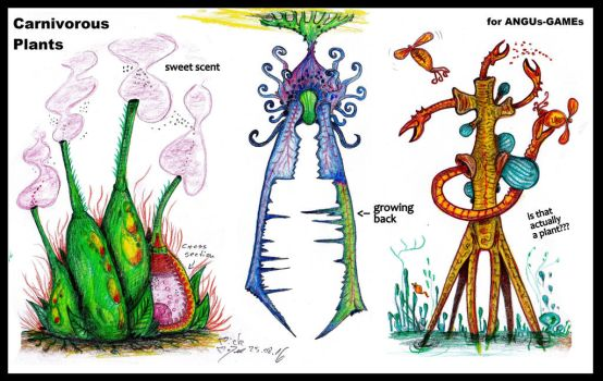 Carnivorous plants (Commi for ANGUs-GAMEs) by MickMcDee