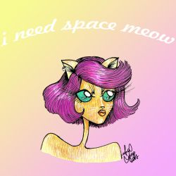 I Need Space Meow by analubelico