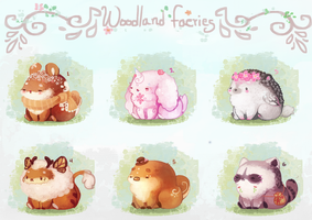 [OPEN 1/6] Woodland faeries by miloudee