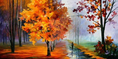 Walk In The Park by Leonid Afremov by Leonidafremov