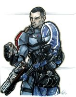 Shepard and Tali by AdamWithers