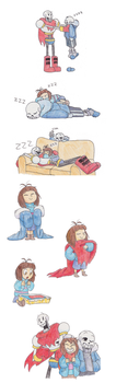 Undertale - Doodles by TC-96