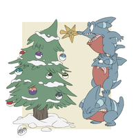 POKEDDEX DAY 25: DRAW A HOLIDAY SCENE by SharpDressedReptile