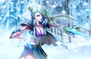 Crystal Maiden loading screen by longai