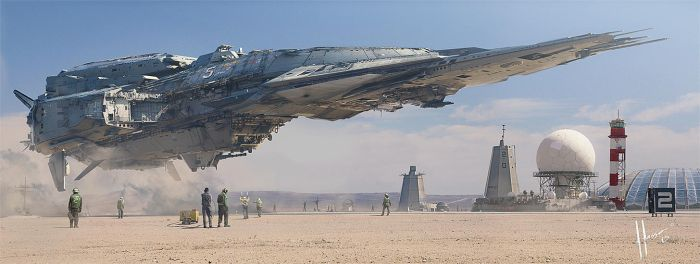 Destroyer Landing by JJasso