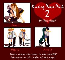 MMD Kissing Poses Pack 2 DL by kitzabitza