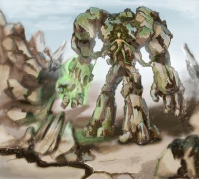Stone golem Earth Colossus by DeathBlacker