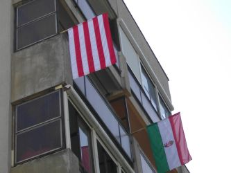 Two of the National Flag finally on the balcony 3 by Wakko2010