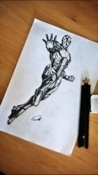 Iron Man Drawing by ZeroFoxFaceless