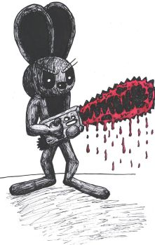 Inky With Chainsaw by InkBunny