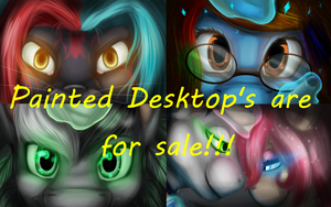 Painted Desktop's are for sale by 11newells