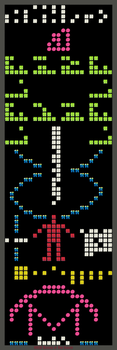 Arecibo Message with HARIBO candies by DiggerEl7