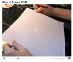 How to Draw a Wolf Video by lady-cybercat