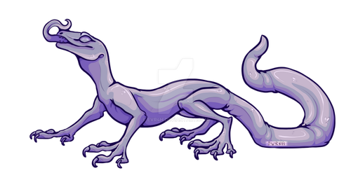 Teeny Lizard Lineart [P2U] by EVR4H