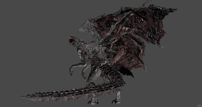 Dark Souls 3 - Midir`s Godizlla Final Wars stance by Shredder2016