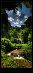 Waterfall valley by Leitor