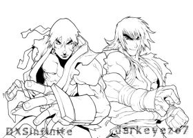 ken and ryu lines by DXSinfinite