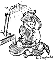 Inktober #5 - Long by Sunnybrook1