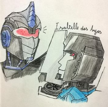 Ceres and Thundercraker: Having a Chat by Illuniaone