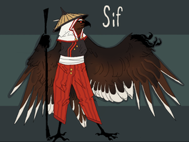 Sif the Aarakocra by Quadrupedal