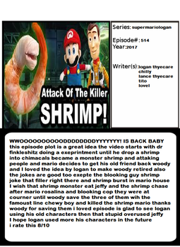 Admirable Animation Attack Of The Killer Shrimp by goodstar64