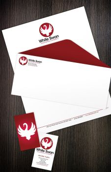White Swan Stationery by Risea
