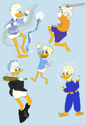 Dewey Duck! Gina's Ugly AU's by GinYang