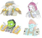 WoW - Chibi Horde Leaders by Ani-Meg