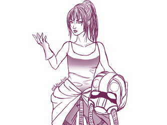Bliss As A TIE Fighter Pilot by ChellizardDraws